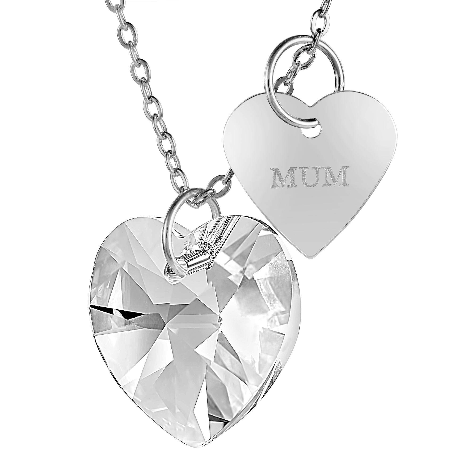 Enlarged love heart pendant made with swarovski crystals gemnation enlarged love heart pendant made with swarovski crystals aloadofball Images