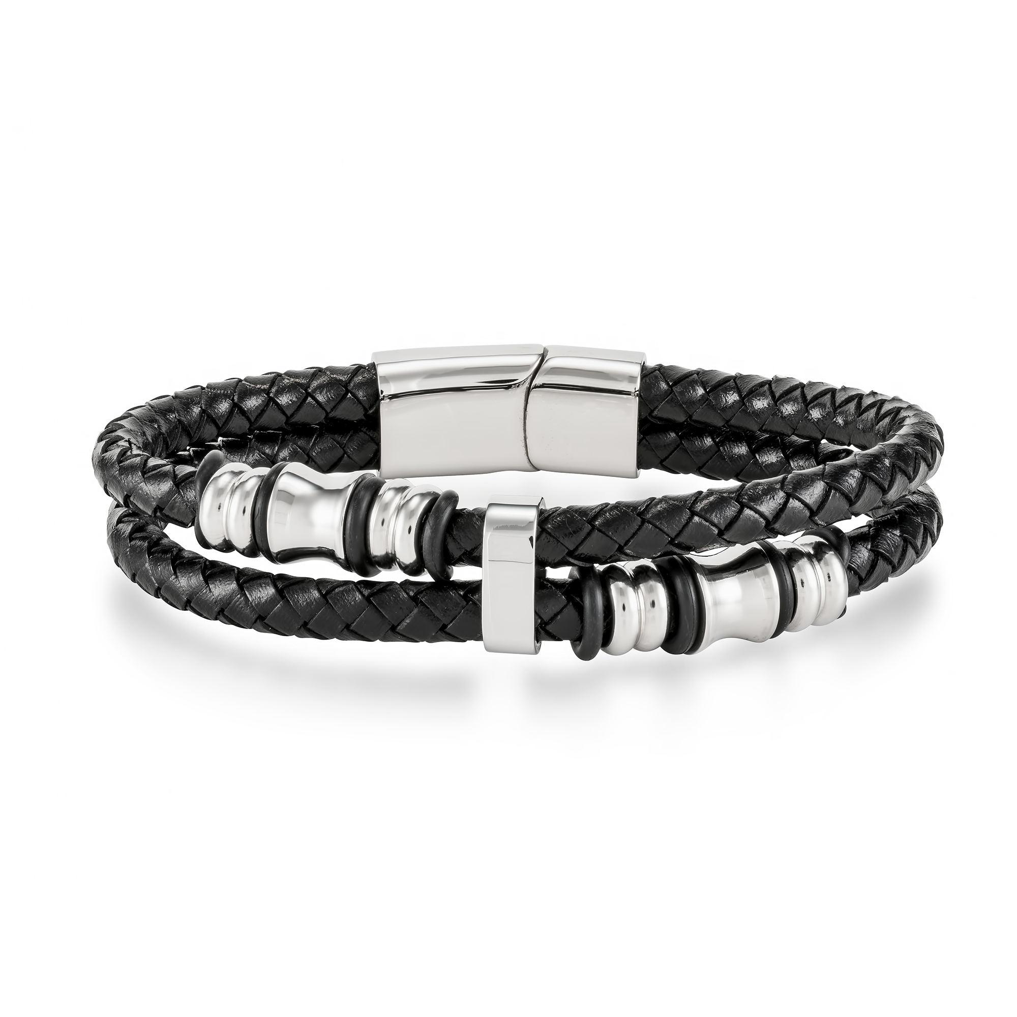 bangle carpe silver leather mens diem bracelet bangles sterling products
