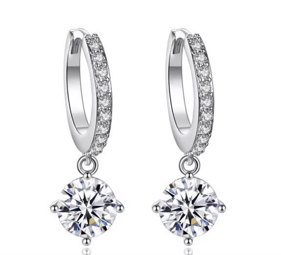 Beautiful Hoop Style Swarovski Earrings