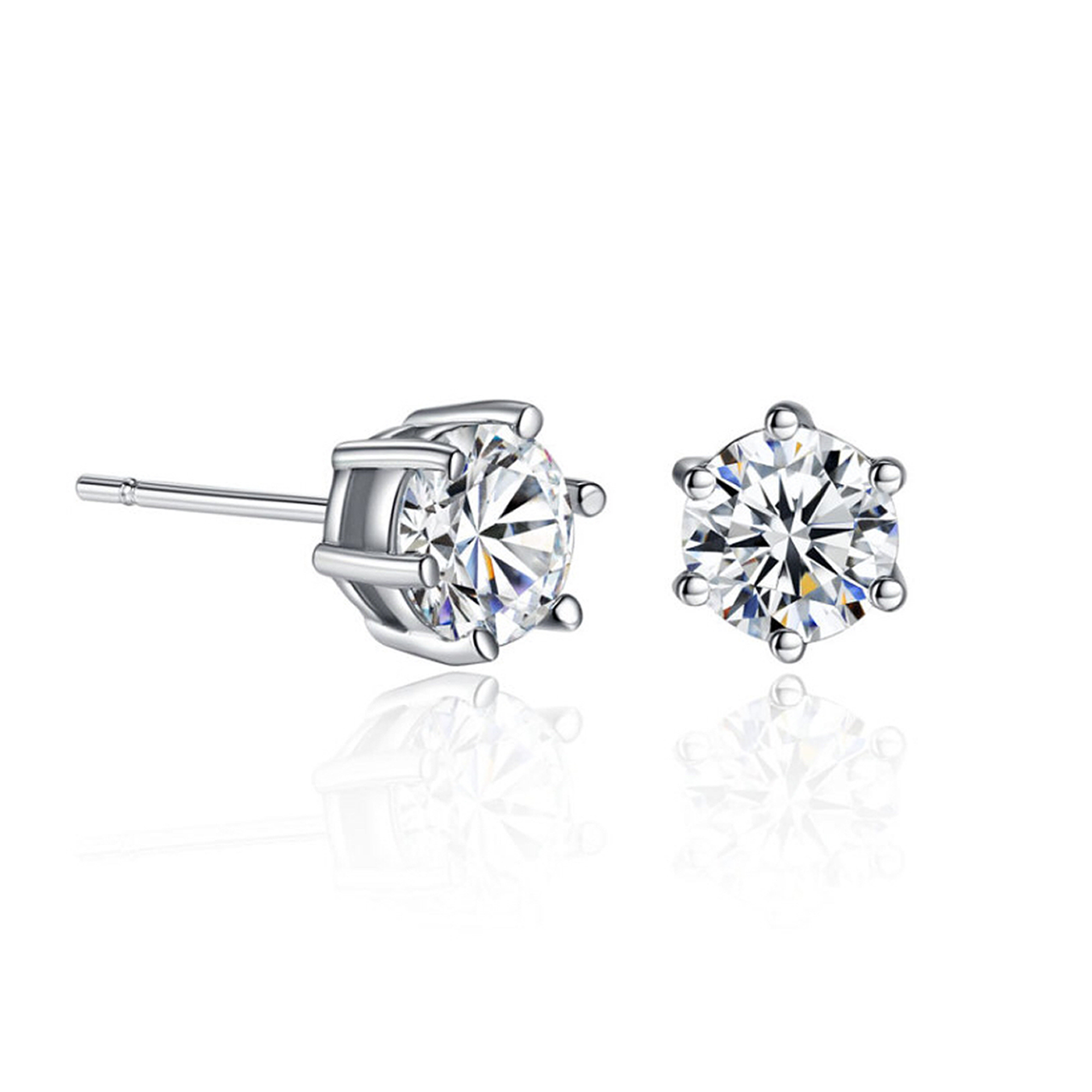 a pair jewellery collections stud earrings diamond classic round graff of