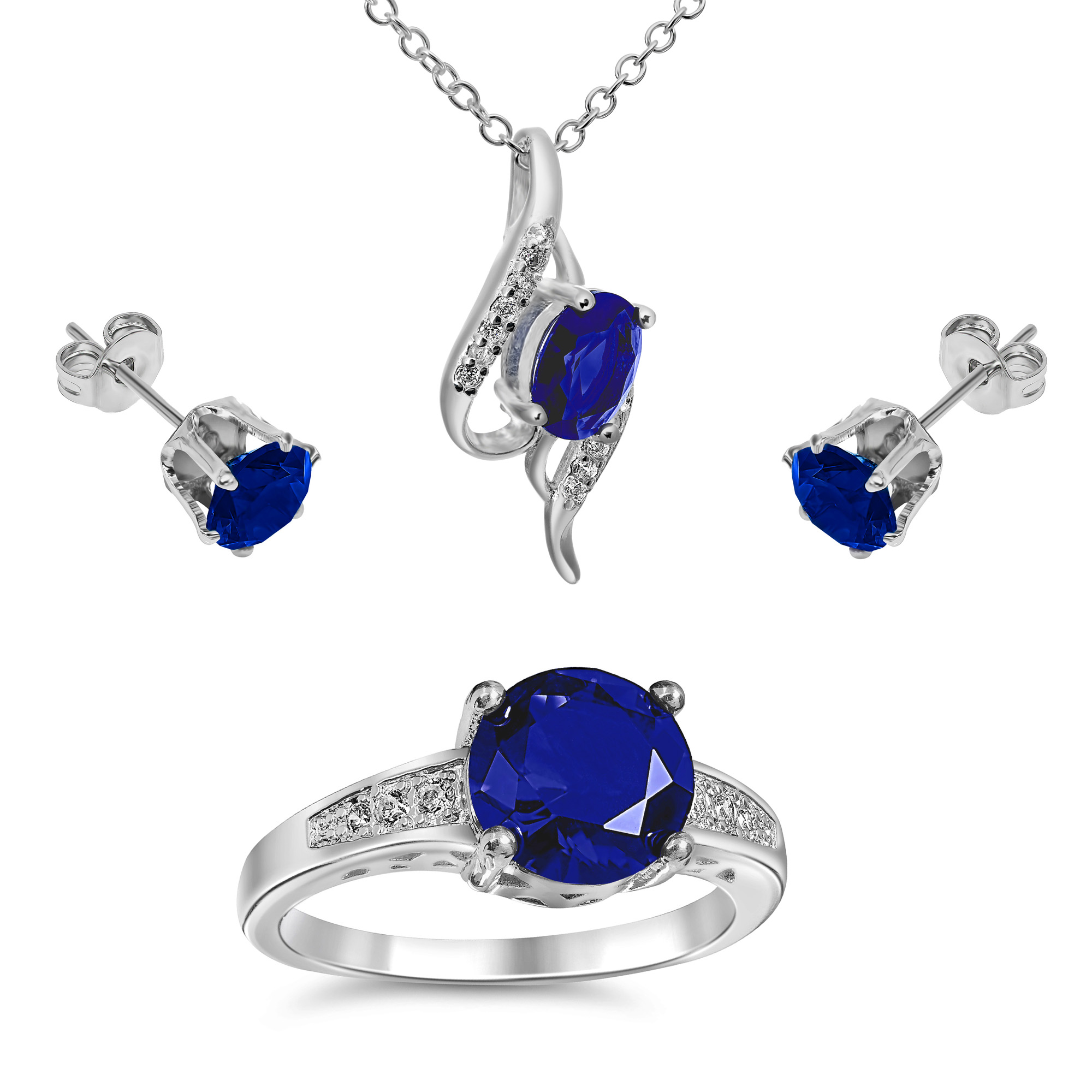 klein necklace gorgeous blue anne crystal pendant products